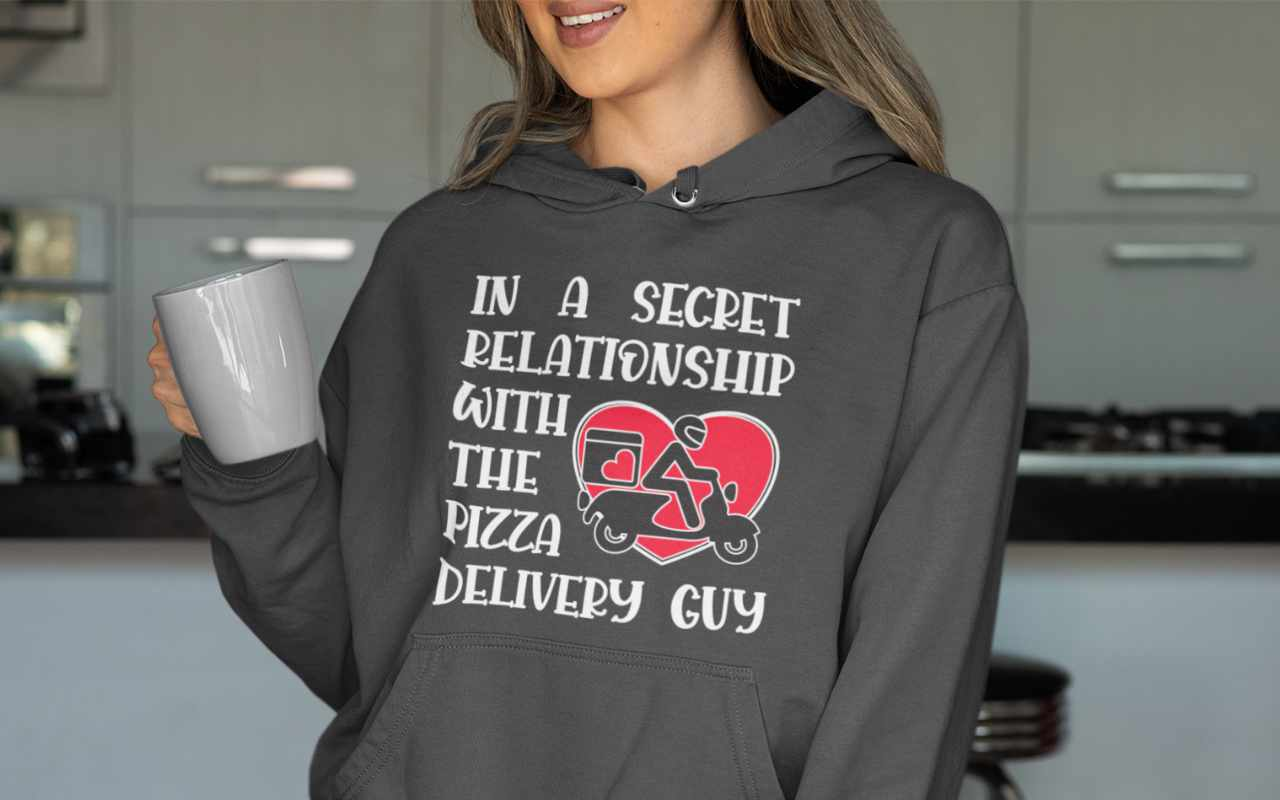 In a secret relationship with the pizza delivery guy