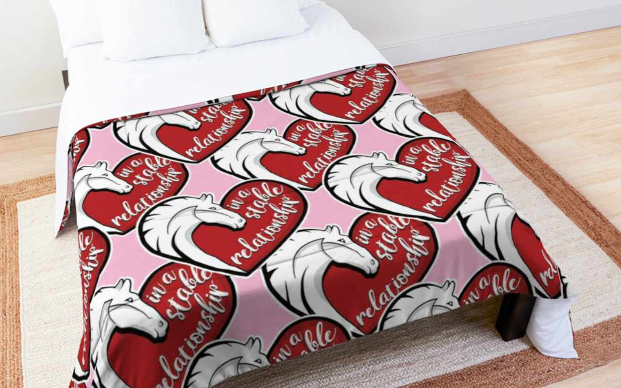 In a stable relationship duvet cover