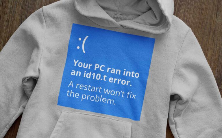 Your PC ran into an id10.t error.