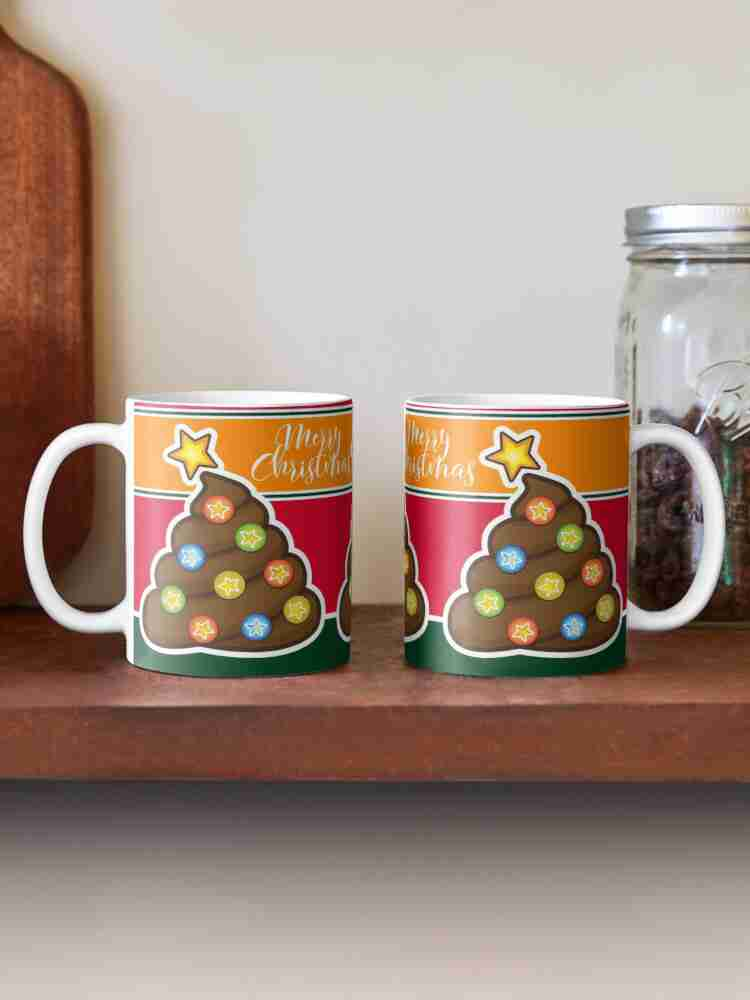 Poop Emoji Christmas Tree Mugs
