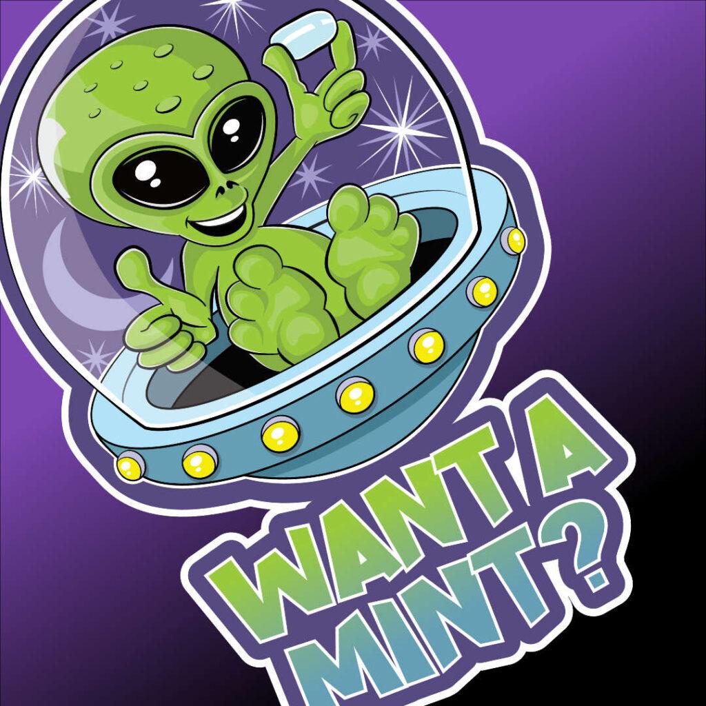 alien tic tac want a mint design detail